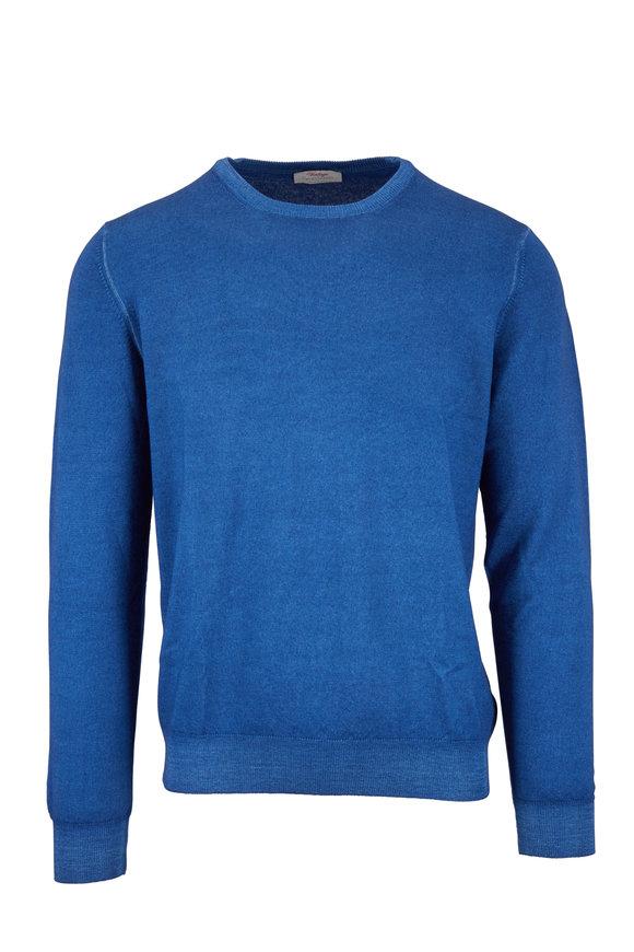 Gran Sasso Vintage Blue Wool Crewneck Pullover