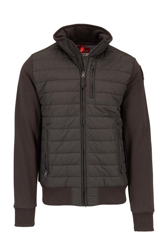 Parajumpers Elliot Olive Mixed Media Fleece Jacket