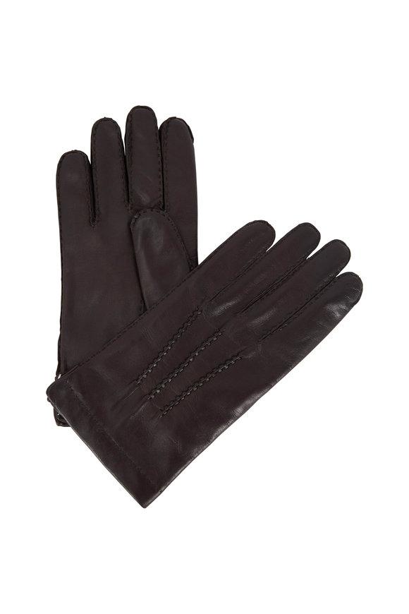 Portolano Chocolate Nappa Leather Gloves
