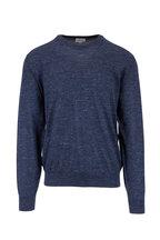 Brioni - Blue Cashmere, Silk & Hemp Pullover