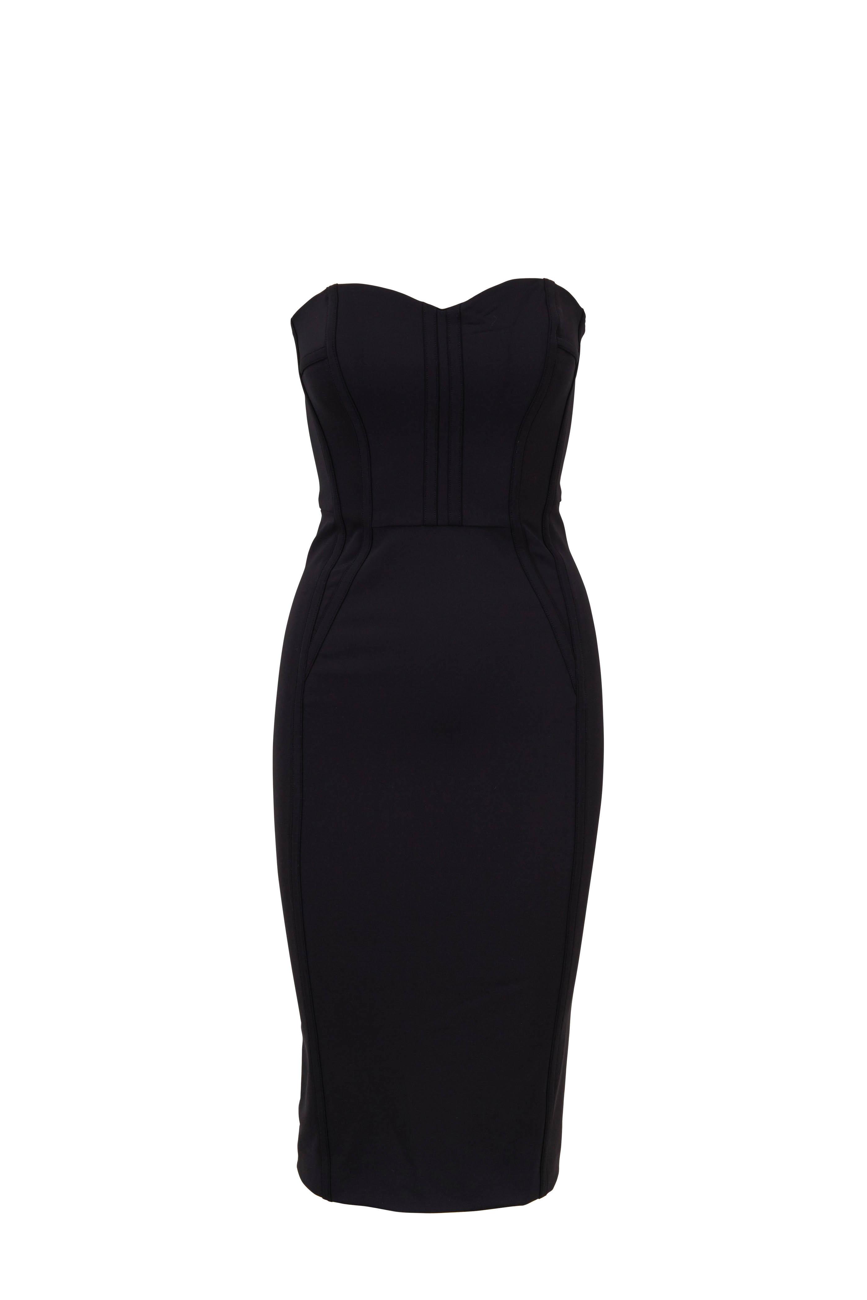 c3e14fe4149 Veronica Beard - Maui Black Strapless Bustier Dress