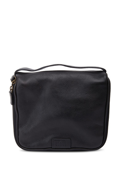 Moore & Giles - Black Leather Messenger Bag