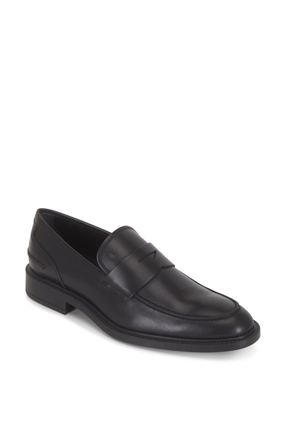 Tod's New Boston Black Leather Mocassino Loafer