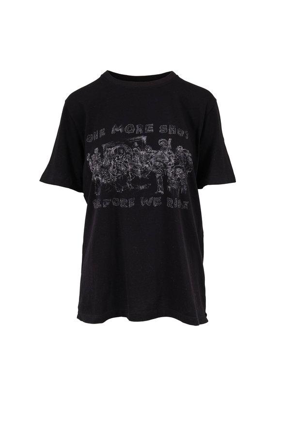 Saint Laurent Black One More Shot Graphic T-Shirt