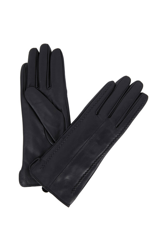 Viktoria Stass Black Leather Short Gloves