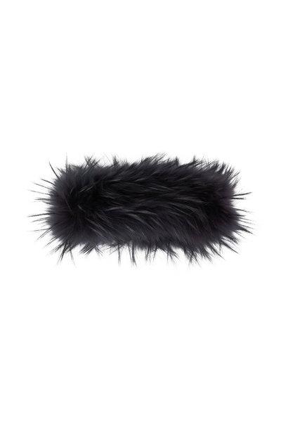 Viktoria Stass - Dark Gray Fur Headband