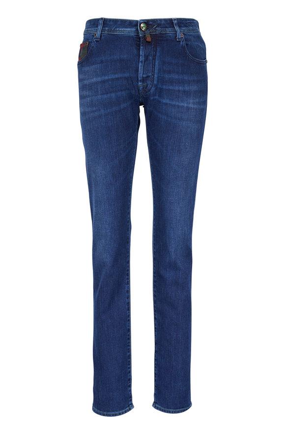 Jacob Cohen  Comfort Slim Plaid Pocket Jean
