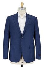 Ermenegildo Zegna - Blue Textured Wool & Silk Sportcoat