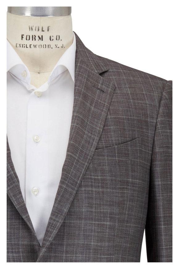 Ermenegildo Zegna Light Olive Wool & Silk Textured Sportcoat