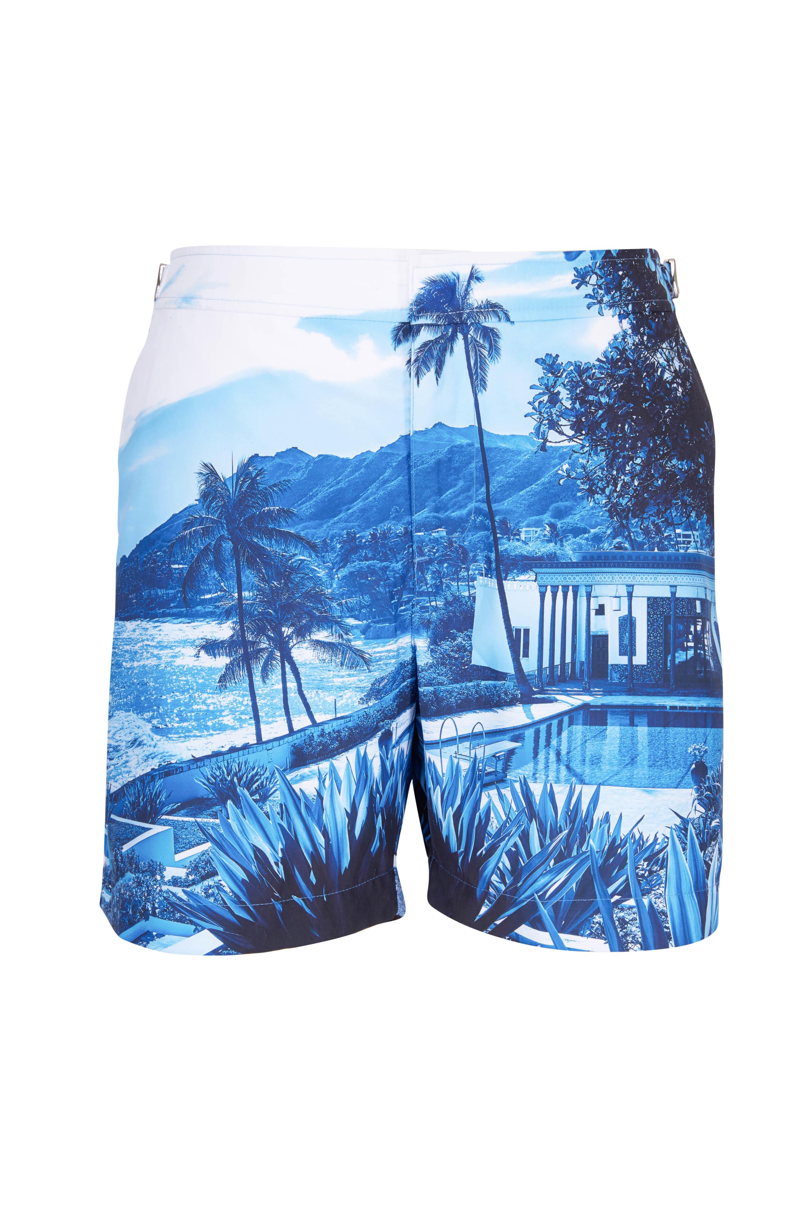 a9473f6e868 Orlebar Brown - Bulldog Blue View Swim Trunks | Mitchell Stores