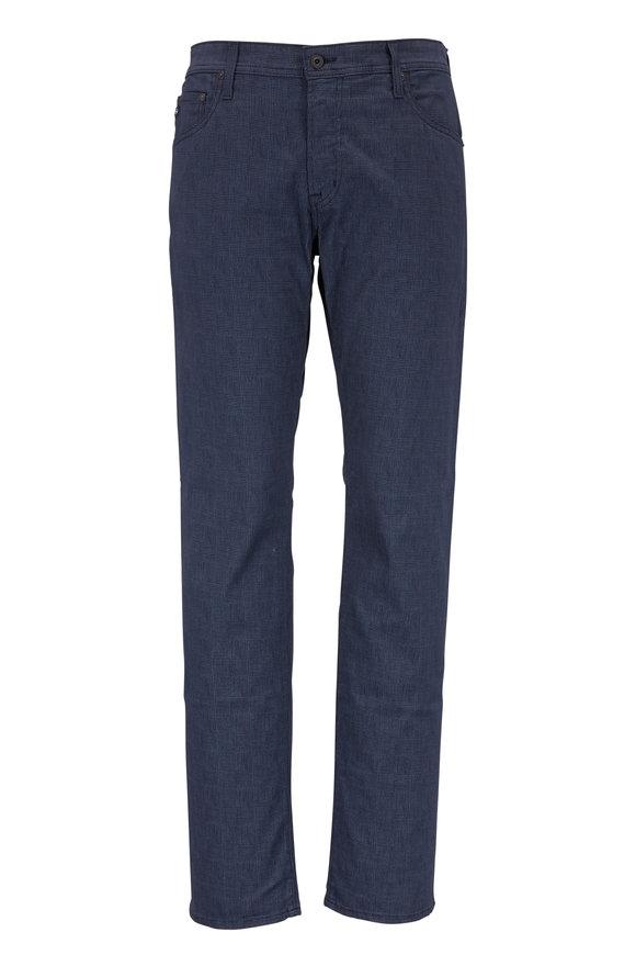 AG - Adriano Goldschmied Tellis Navy Plaid Modern Slim Jean