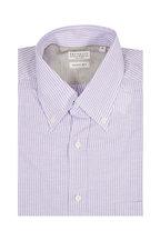 Brunello Cucinelli - Lavender Striped Basic Fit Sport Shirt