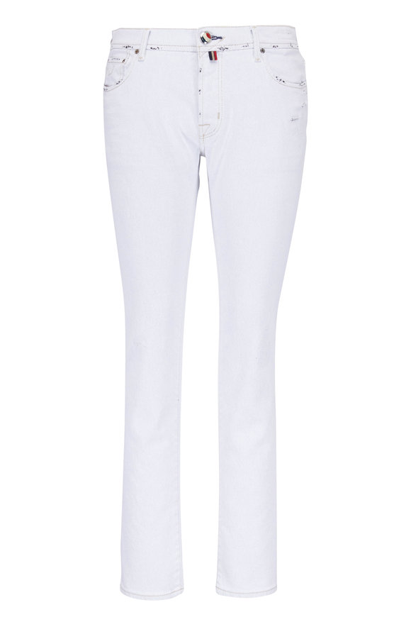Jacob Cohen  Distressed Off-White Second Premium Edition Jean