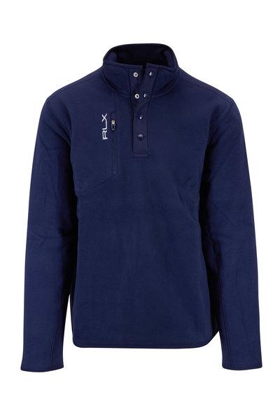 Polo Ralph Lauren - Navy Polar Fleece Quarter-Snap Jacket
