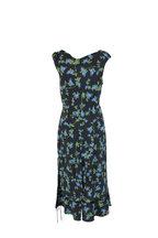 Altuzarra - Black & Blue Floral Silk Dress