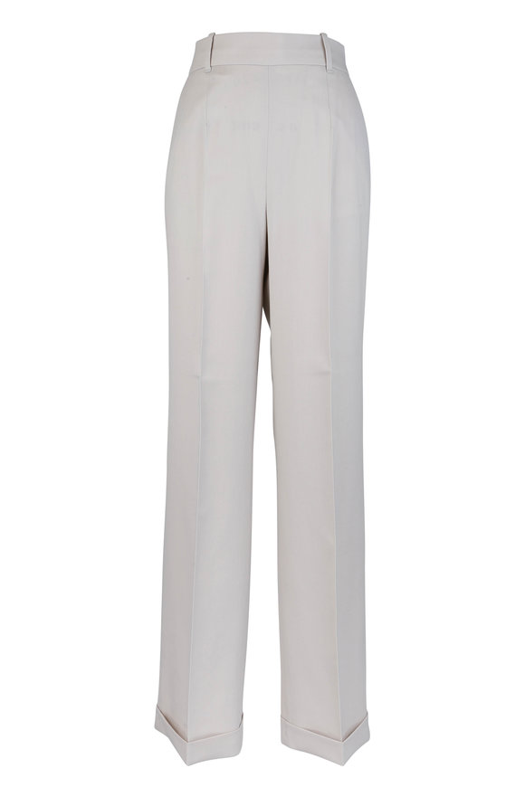 Altuzarra Oat Stretch Wool Pleat Pant