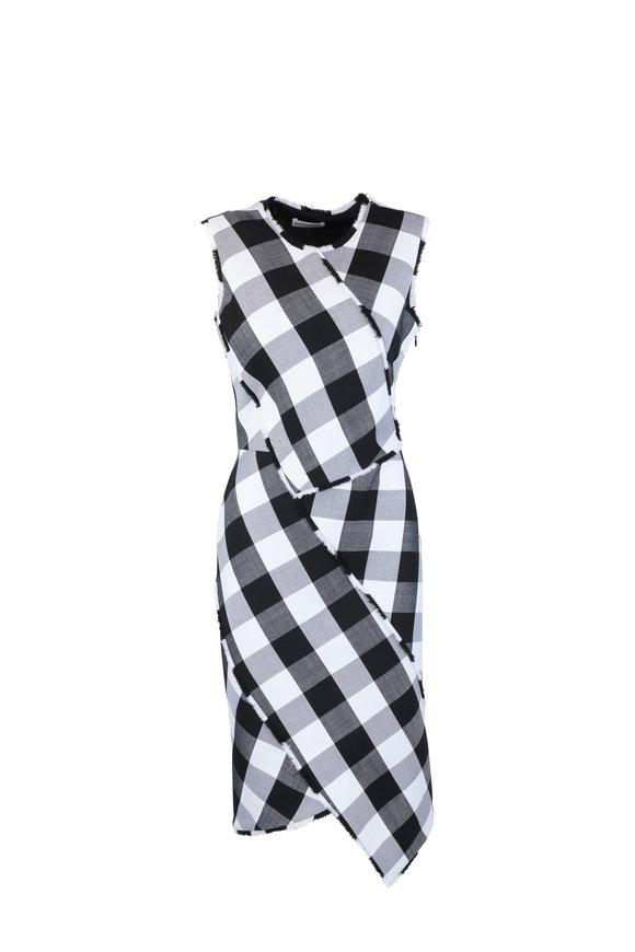 Altuzarra Gina Black & White Gingham Wool Dress