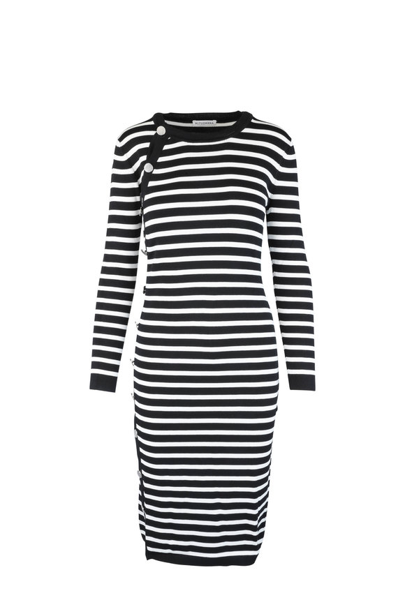Altuzarra Black & Ivory Striped Dress