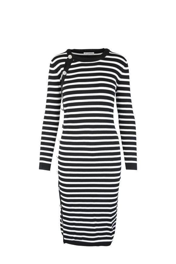 Altuzarra Black & Ivory Striped Dress