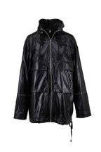 Helmut Lang - Black Glazed Leather Anorak Jacket