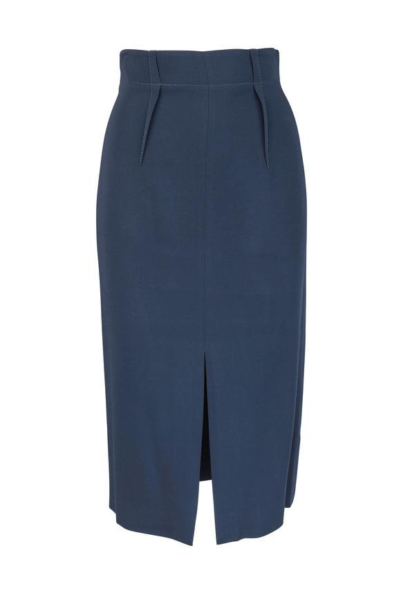 Cushnie et Ochs Navy Blue High-Waist Pencil Skirt