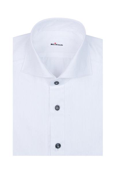 Kiton - White Tuxedo Shirt