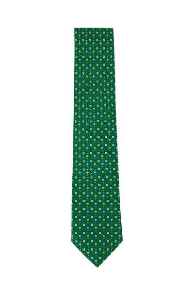 Salvatore Ferragamo - Green Hot Air Balloon Pattern Silk Necktie