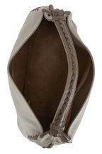 Bottega Veneta - Dark Gray Cervo Leather Braided Detail Hobo Bag