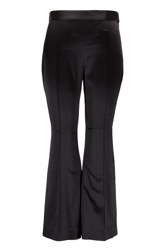 Rosetta Getty Black Cropped Flare Pant
