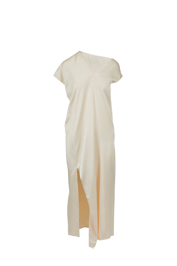 Rosetta Getty Shell Satin Bias Cut Caftan Dress