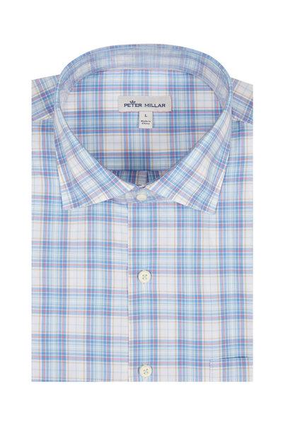 Peter Millar - Light Blue Tartan Plaid Sport Shirt