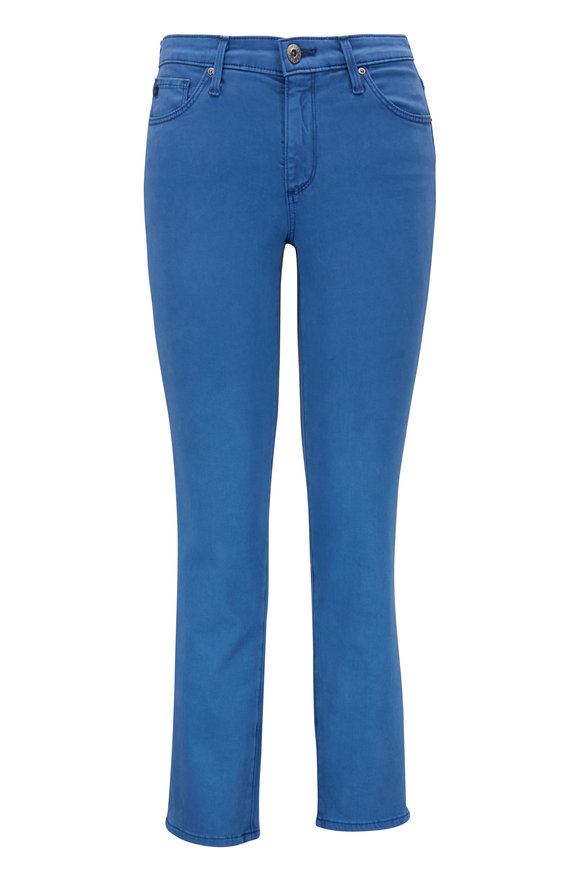 AG - Adriano Goldschmied Prima Blue Sateen Crop Jean