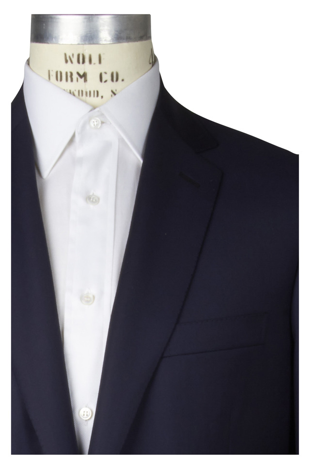 Navy Blue Worsted Wool Coloseo Sportcoat