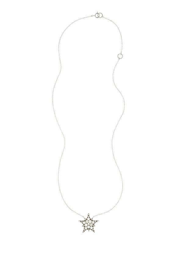 Nam Cho 18K White Gold Diamond Star Pendant Necklace