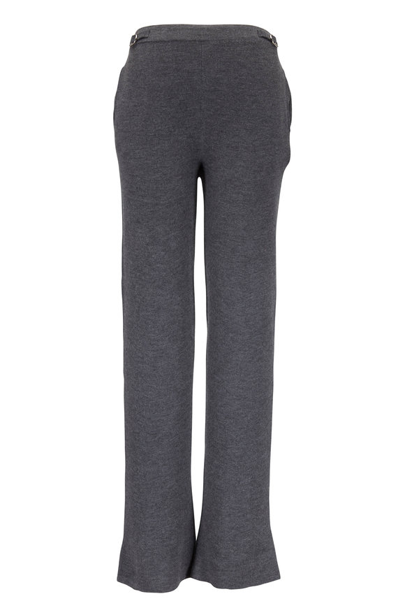 Gabriela Hearst Diego Charcoal Gray Cashmere Knit Pant