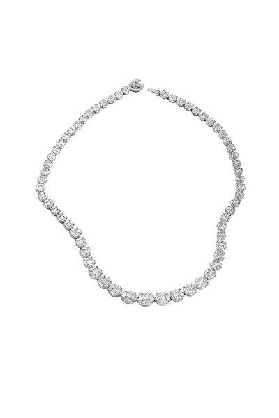 Nam Cho - 18K White Gold Riviera Diamond Necklace