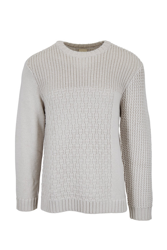 Baldwin Tierney White Wool Crewneck Pullover