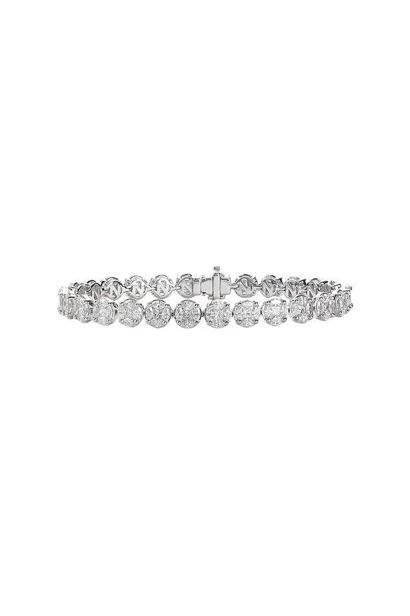 Nam Cho 18K White Gold Invisible Diamond Bracelet