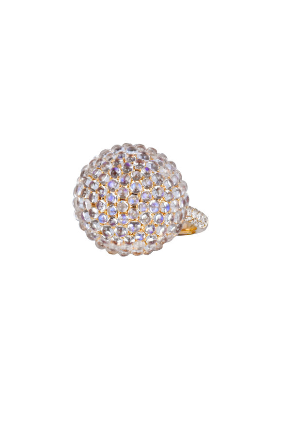 Nam Cho 18K Rose Gold Moonstone Ball Ring