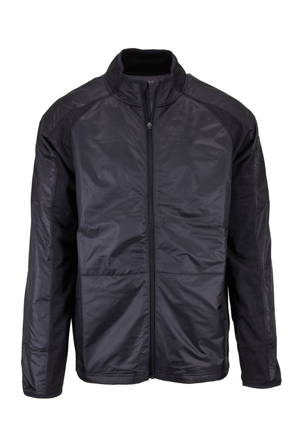 Rhone Apparel Black Tech Terry Jacket