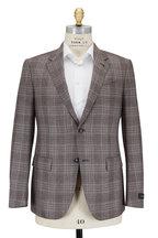 Ermenegildo Zegna - Khaki Plaid Cashmere, Silk & Hemp Sportcoat