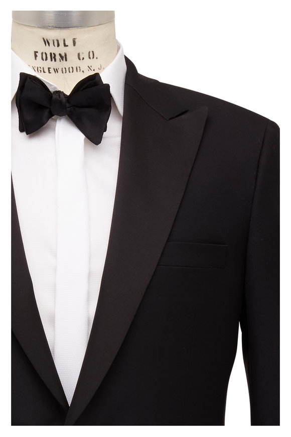 Samuelsohn Bennet Black Ice Wool Peak Lapel Tuxedo