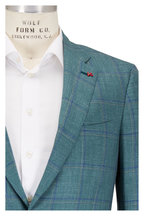 Isaia - Green Plaid Wool, Cashmere, Silk & Linen Sportcoat