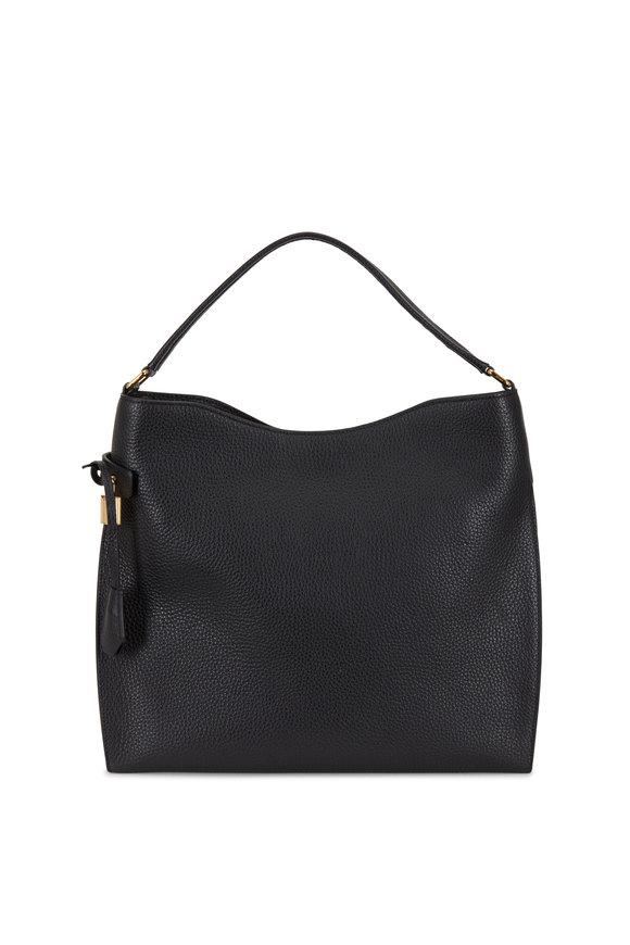 Tom Ford Alix Black Leather Hobo Bag