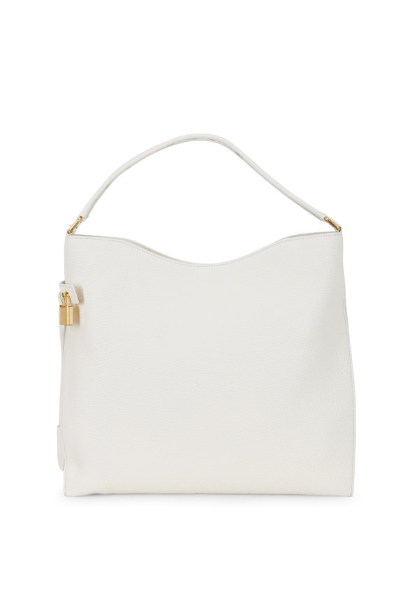 Tom Ford Alix Chalk Leather Hobo Bag