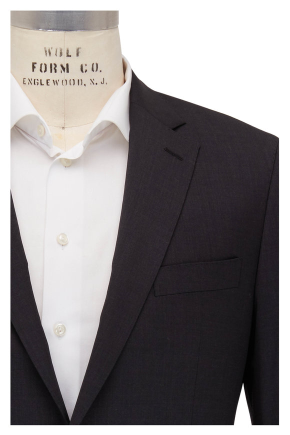 Atelier Munro Solid Gray Stretch Wool Suit