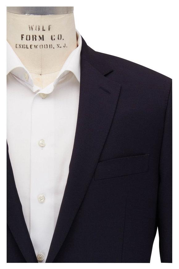 Atelier Munro Navy Panama Weave Linen Sportcoat