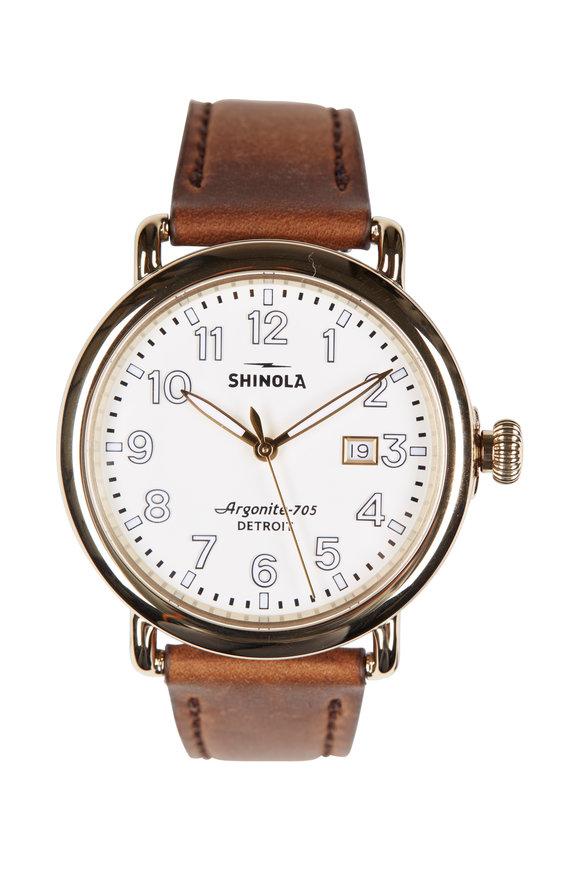 Shinola The Runwell Cream Face Watch, 41mm