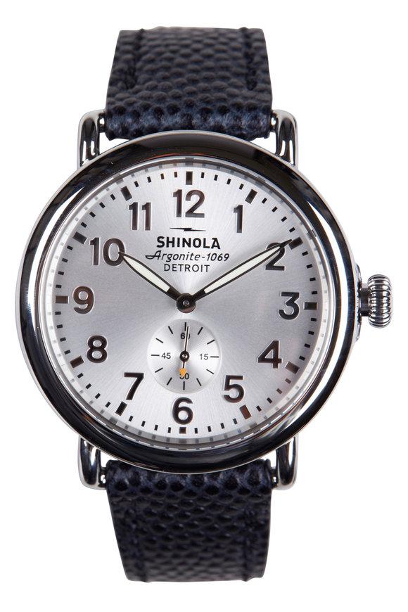 Shinola The Runwell Silver Quartz Watch, 41mm