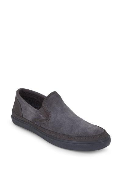John Varvatos - Jet Oxide Suede Slip-On Sneaker